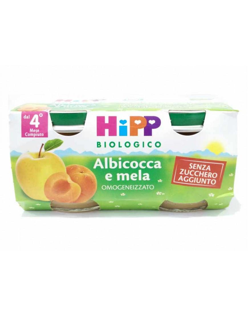 HIPP OMOGENEIZZATO ALBICOCCA MELA 2X80G
