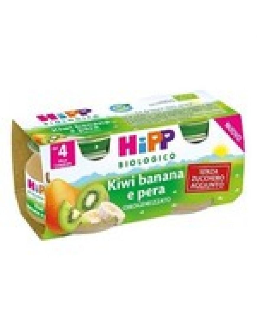 HIPP OMOGENEIZZATO DI  KIWI/BANANA/PERA 2X80G