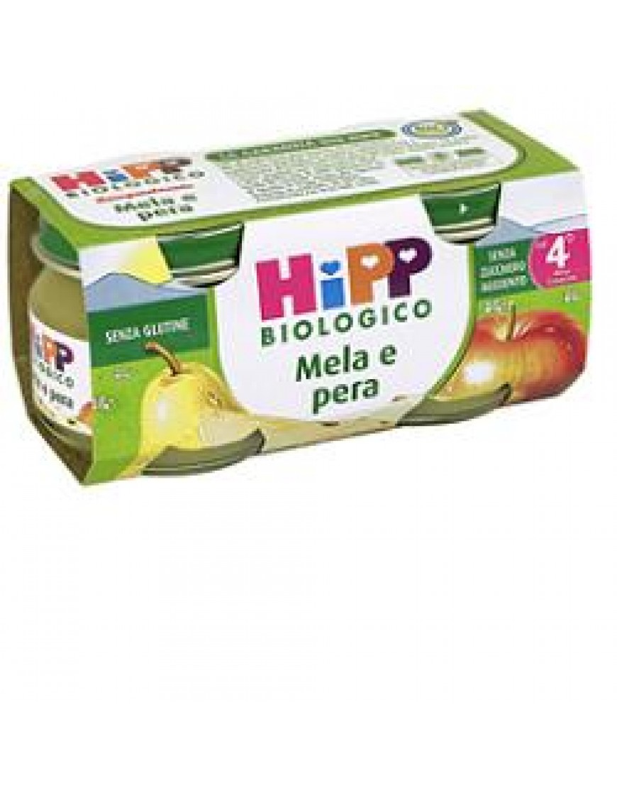 HIPP BIO OMOGENEIZZATO MELA PERA 80 G 2 PEZZI