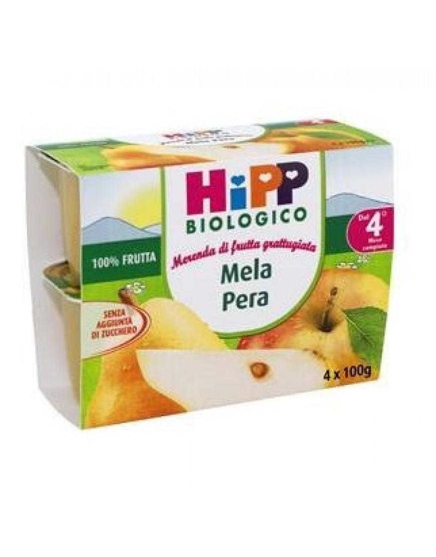 HIPP BIO MERENDA FRUTTA MELA PERA 4 VASETTI