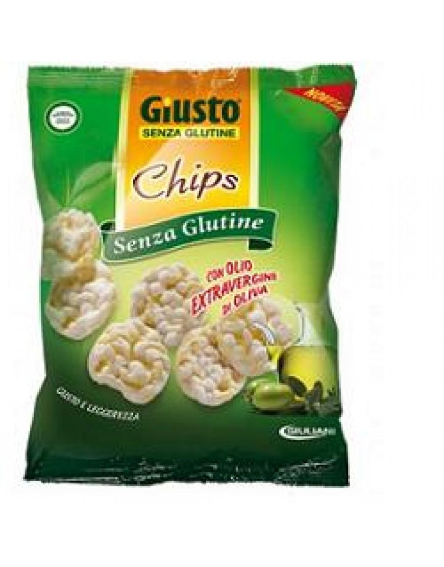 GIUSTO SENZA GLUTINE CHIPS OLIO EXTRAVERGINE 30 G