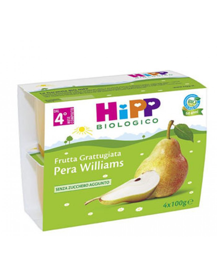 HIPP BIO MERENDA FRUTTA PERA 100 G 4 VASETTI