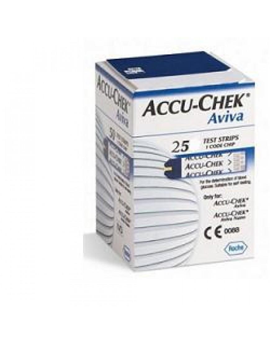 ACCU-CHEK AVIVA 25STRISCE