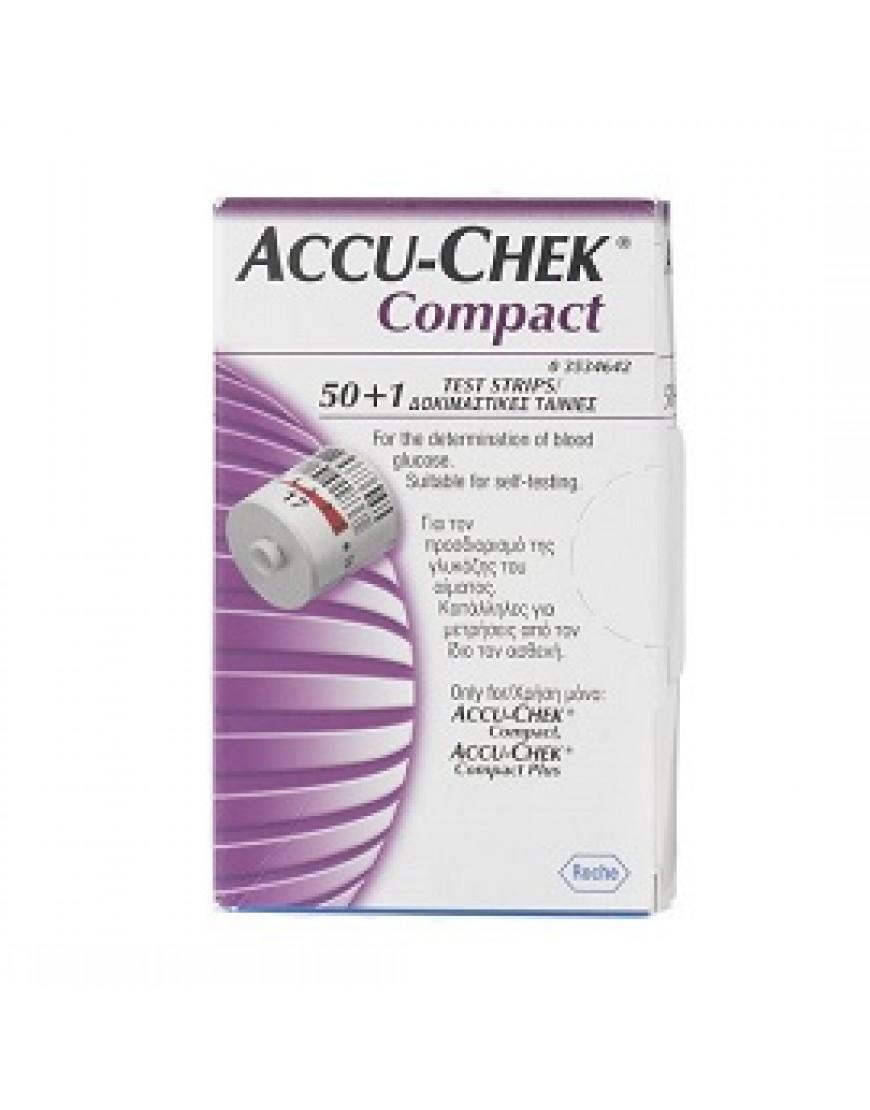 ACCU-CHEK COMPACT 50+1 STRISCE