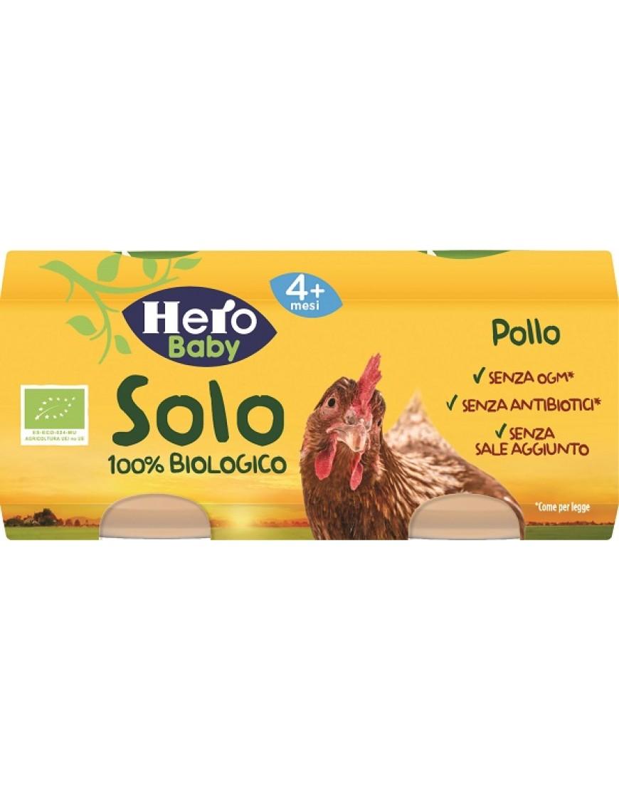 HERO SOLO OMOG POLLO BIO 2X80G