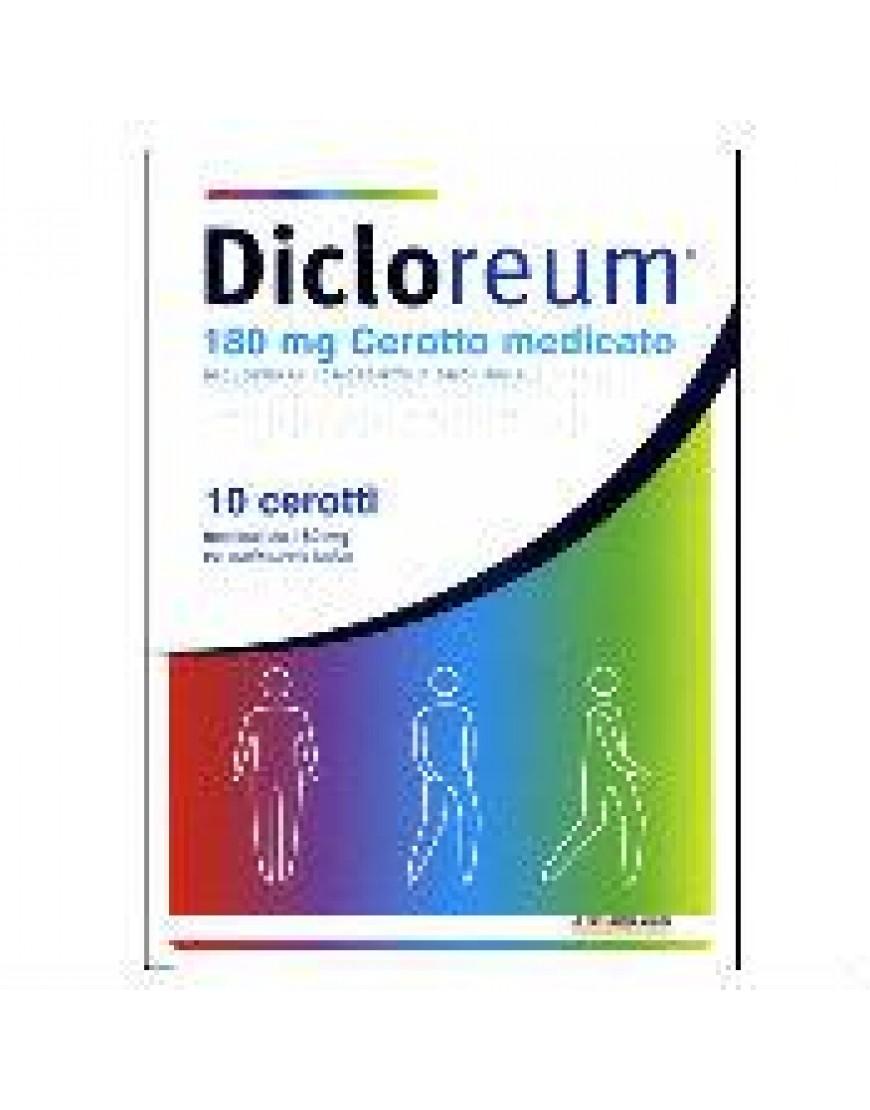 DICLOREUM ANT LOC*10 CEROTTI  MEDICATI 180 MG
