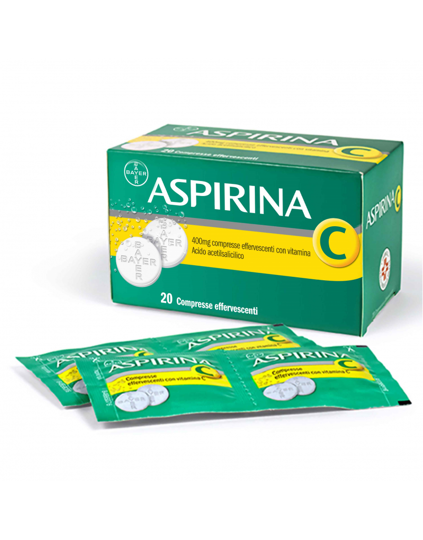 ASPIRINA C 20 COMPRESSE  EFFERVESCENTI 400+240MG